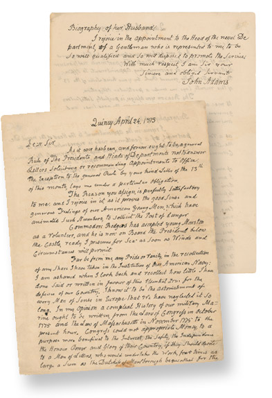 Rr Autograph Auctions Consignment Agreement: RR Autograph Auctions John Adams War-dated ALS