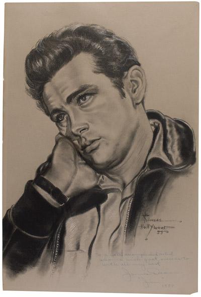Rr Autograph Auctions Consignment Agreement: RR Autograph Auctions James Dean Oversized Artist's